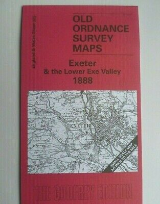 OLD ORDNANCE SURVEY MAP EXETER & THE LOWER EXE VALLEY  & Plan Whimple 1888 S 325