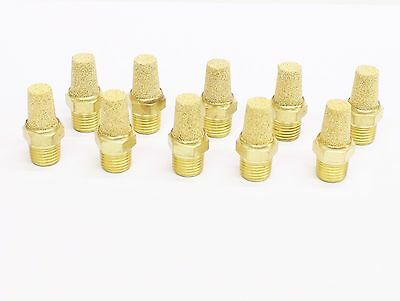 "10pc Pneumatic Cone Silencers Sintered Bronze 1/4"" NPT MettleAir BSL-N02"