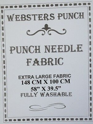 Webster Craft Punch Needle EXTRA LARGE Quality Twill Fabric