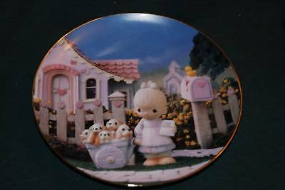 ENESCO/Precious Moments Lt Ed Plate: CHEERFUL GIVER