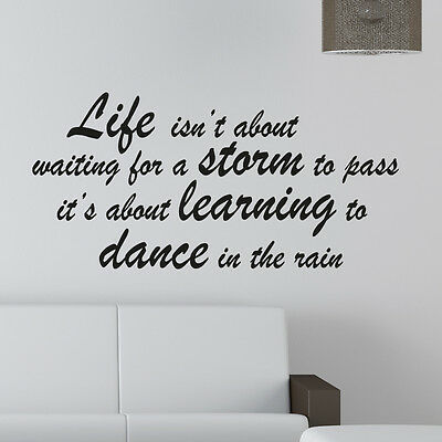 Wall Quote Sticker Art Decor c20 Live isn/'t about waiting forthe storm to pass