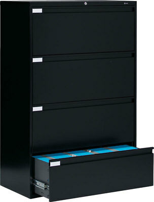 Metal 4 Drawer Lateral File Cabinet Office Furniture