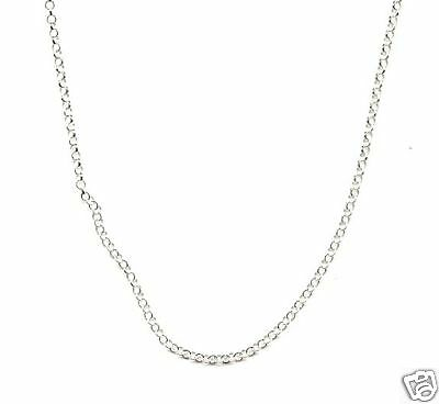 36 inch Sterling Silver 2.5mm Rolo Chain Necklace Solid