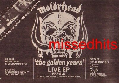 Motorhead-1980 magazine advert