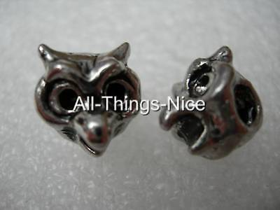 GOTHIC OWL 4mm Screw LOCK European Spacer Charm Beads Fashion Jewellery Findings