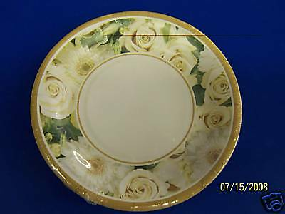 "Amscan Champagne Wedding Party 7"" Dessert Plates"