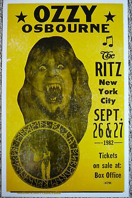 Ozzy Osbourne at The Ritz in NYC Poster