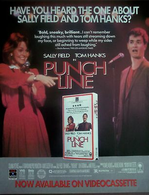 1989 movie promo ad PUNCH LINE Tom Hanks & Sally Field