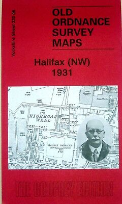 Old Ordnance Survey Detailed Maps Halifax North West 1931 Yorkshire Godfrey Edit