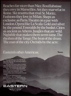 1986 Eastern Airlines fly to Latin America vintage ad
