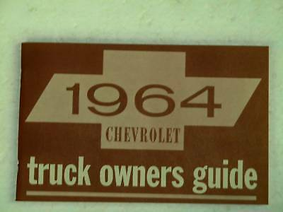 64 1964 Chevy Chevrolet truck Owners manual glove box