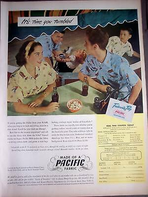 1948 Pacific Mills COKE Shirts for teens vintage ad