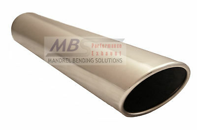 """MBS 3"""" x 16"""" T-304 Stainless Polished Rolled Edge Exhaust Tip Truck Car Turbo"""