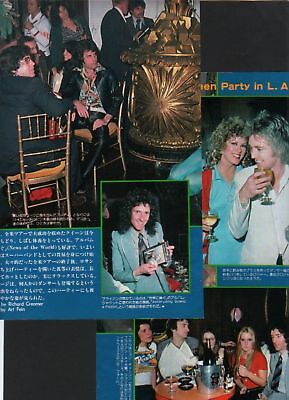 1978 QUEEN The Runaways JAPAN 2pg mag PHOTO SPREAD