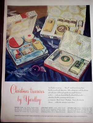 1947 Christmas AD Yardley products