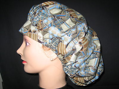 Surgical Scrub Hats/Caps~Christmas-Blue & Gold Presents