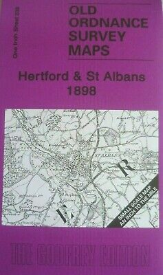 Old Ordnance Survey Maps Hertford & St Albans & Map Welwyn 1898 Godfrey Edition