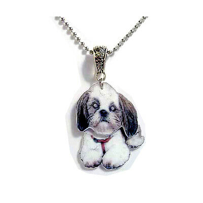 Shih-Tzu 3D Necklace Handcrafted Plastic Made in USA