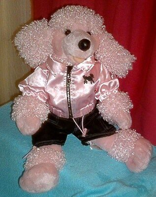 Build a Bear Pink Poodle Plush Toy Gentle Use Cute Outfit