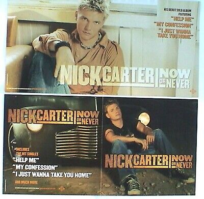 """Nick Carter """"now Or Never"""" 2-Sided U.s. Poster /banner"""