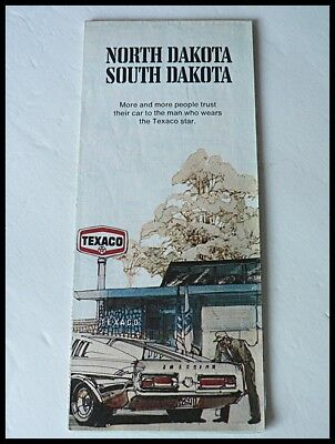 TEXACO OIL CO.STATE MAP OF NORTH  AND SOUTH DAKOTA