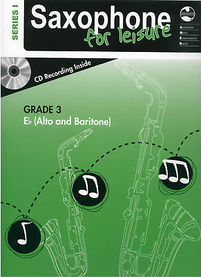 NEW AMEB Grade 3 Series 1 Saxophone For Leisure Eb + CD