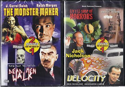 Monster Maker/Dead Men Walk & Little Shop Horrors/Velo.