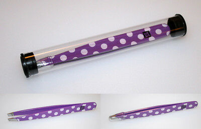 Tweezers Purple Dot, Sanguine Tweezers, Slanted, Hair