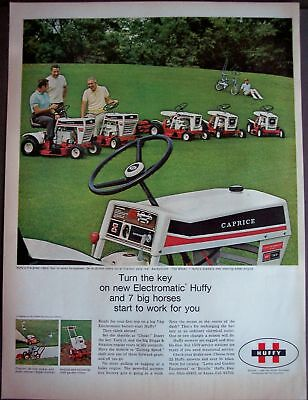 1969 Electromatic Huffy Lawn Mowers vintage ad