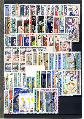 Collection 75 Timbres Mauritanie  Afrique