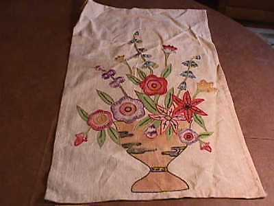 Antique Floral Handsewn Table / Chair Scarf- Pair