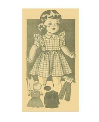 Vintage Doll Clothing  Pattern #4597