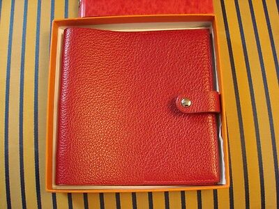 Hermes Red Leather Album - With Lettered Index - New