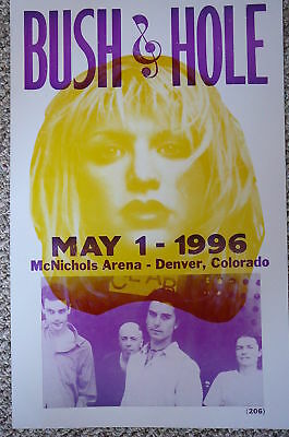Bush & Hole 1996 Concert in Denver Poster