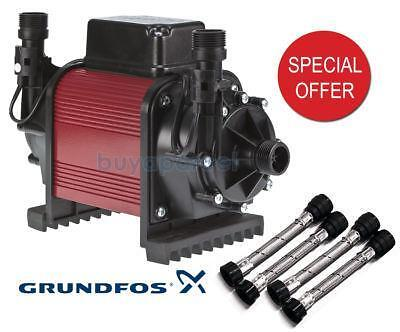 Grundfos WATERMILL WASP 66 RP Shower Pump 2.0 Bar Twin - Includes Hoses