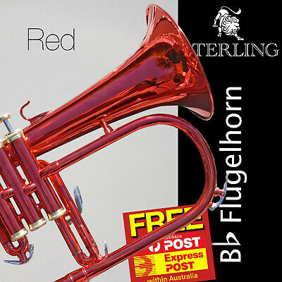 Red STERLING Bb Flugelhorn • With Case and Accessories • Brand New Flugel •