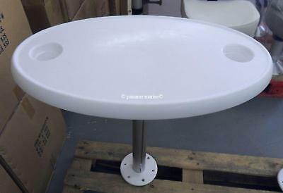 Table oval for boat with removable support (cabin)