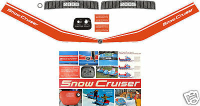 1970 snow cruiser decals 2000 or 2005 reproductions 59 for Telephone mural 1970