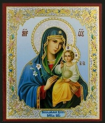 Mary Enternal Bloom Russian Icon Wood Gold Foil Madonna