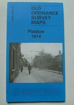Old Ordnance Survey Detailed Maps Plaistow West Ham London 1914 Godfrey Edition