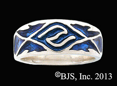 Sterling Silver Elven Water Ring, Water Element Jewelry, Your Size, Men's Ring