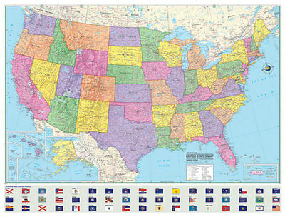 36x48 Hammond United States Us Usa Large Wall Map Mural 1495 - Large-map-us