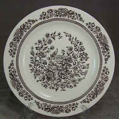 Royal China USA Americana Sussex Brown Dinner Plate