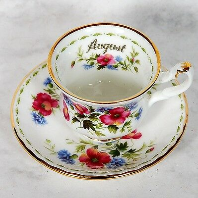 Royal Albert Flower Of The Month Miniature August