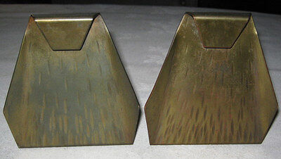 Antique Arts Crafts Roycroft Us Copper Hammered Tooled Bookends Mission Desk Art