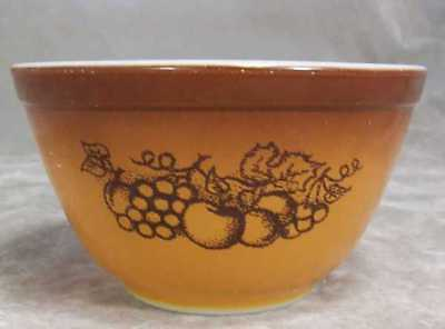 Pyrex Glass #401 Nesting Mixing Bowl Small Old Orchard