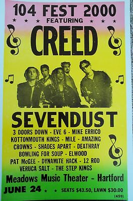 104 Fest 200 w/ Creed, Sevendust & many more Poster