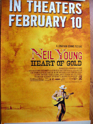 NEIL YOUNG Heart of Gold Advance movie poster 27x40