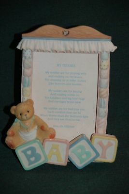 CHERISHED TEDDIES Picture Frame - With My TEDDIES poem