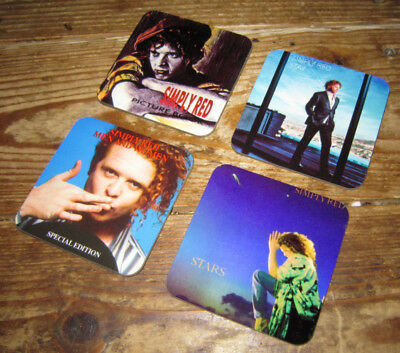 Simply Red Mick Hucknall Album Cover COASTER Set #3